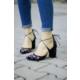 İnce Topuk Nakış İşlemeli Topuklu Ayakkabı 7YAZA0104549