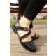 İnce Topuk Çapraz Bantlı Oxford Ayakkabı 7YAZA0108004