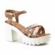 Cabani Tokalı Günlük Kadın Sandalet Bej Deri