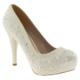 Ali Solmaz 2818 Boncuk Isleme Gelin Beyaz Kadın Ayakkabı
