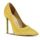Marjin Lesla Topuklu Ayakkabı Sarı Süet