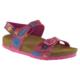 Muya 92154 Çift Bant Resimli Fuşya Kız Çocuk Sandalet