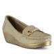 Marjin Yeli Dolgu Topuklu Ayakkabı Altın