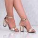 Oc Altın Rugan Kalın Topuklu Kadın Ayakkabılmz102