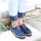 Marcobellini Lacivertbağcıklı Düz Taban Kadın Spor Ayakkabı825