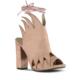 Marjin Eryal Topuklu Ayakkabı Pudra Süet