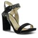 Marjin Miza Abiye Topuklu Ayakkabı Siyah Süet