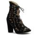 Marjin Esan Topuklu Ayakkabı Siyah Süet