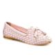 Cabani Örgülü Fiyonklu Loafers Günlük Kadın Ayakkabı Pembe Deri