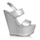EsMODA Cc-3001 Gümüş Ayna Dolgu Topuklu Ayakkabı