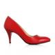 EsMODA Ma-017 Kırmızı Deri Kısa Topuklu Stiletto