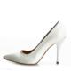 EsMODA Ma-021 Beyaz Deri Klasik Topuklu Stiletto
