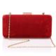 EsMODA Sç-002 Kırmızı Süet Kadın Abiye Clutch Çanta