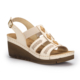 Polaris 71.157345.Z Bej Kadın Dolgu Topuk Sandalet
