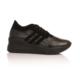 Esmoda SM-8007 Siyah Rugan Bayan Günlük Bağcıklı Ayakkabı