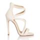 Esmoda VD-1147 Beyaz Deri Bayan Topuklu Ayakkabı
