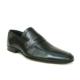 Burç 881 Siyah Bağcıksız %100 Deri Erkek Ayakkabı