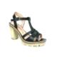 Nel Moda 203 Siyah Krem Topuklu Bayan Sandalet