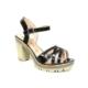 Nel Moda 301 Siyah Topuklu Bayan Sandalet