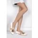 İlvi Meli Iv-80 Günlük Ayakkabı Beyaz Deri - Altın Ayna