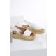 İlvi Jone V-123 Sandalet Beyaz Deri