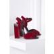 İlvi Lydia 970-Y7 Sandalet Kırmızı Kadife