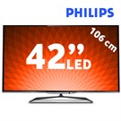 "Philips 42PFL7008K 42"" 700HZ Wi-Fi  (Çift Çekirdekli)  Ambilight SMART 3D FULL HD LED TV + 4 Gözlük + Klavyeli Kumanda"