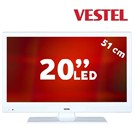 "Vestel 20VH3032B 20""(51cm) UsbMovie Beyaz Kasa SUPER SLIM LED"