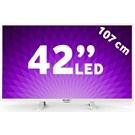 """Axen 42"""" 106 Ekran Beyaz Tasarım Full HD LED (Sunny Elektronik A.Ş. Garantisindedir.)"""