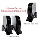 Atlanta ATL-5800 5.8 Ghz İki Alıcı Üniteli Kablosuz Ses ve Görüntü Aktarıcı Set