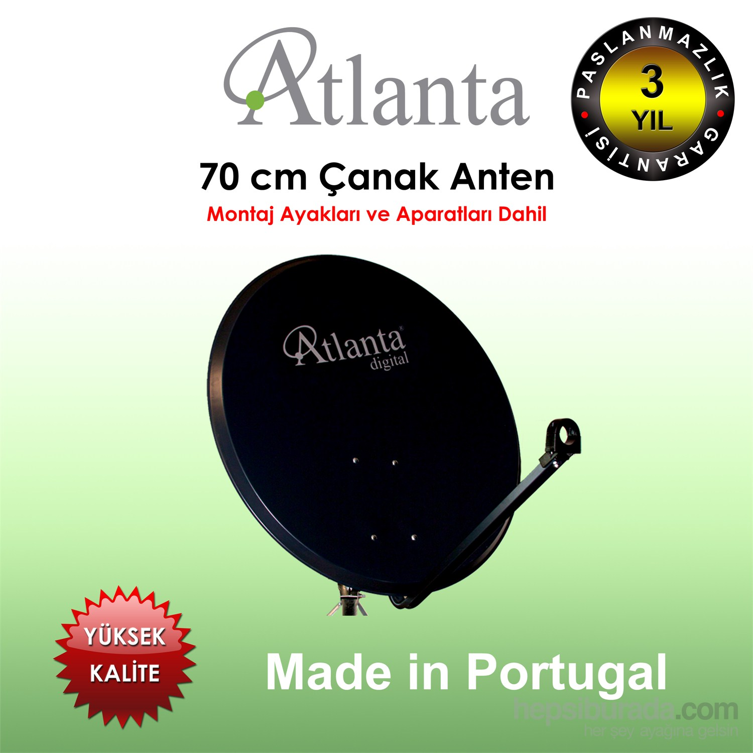Atlanta 70cm Offset Çanak Anten (Made in Portugal)
