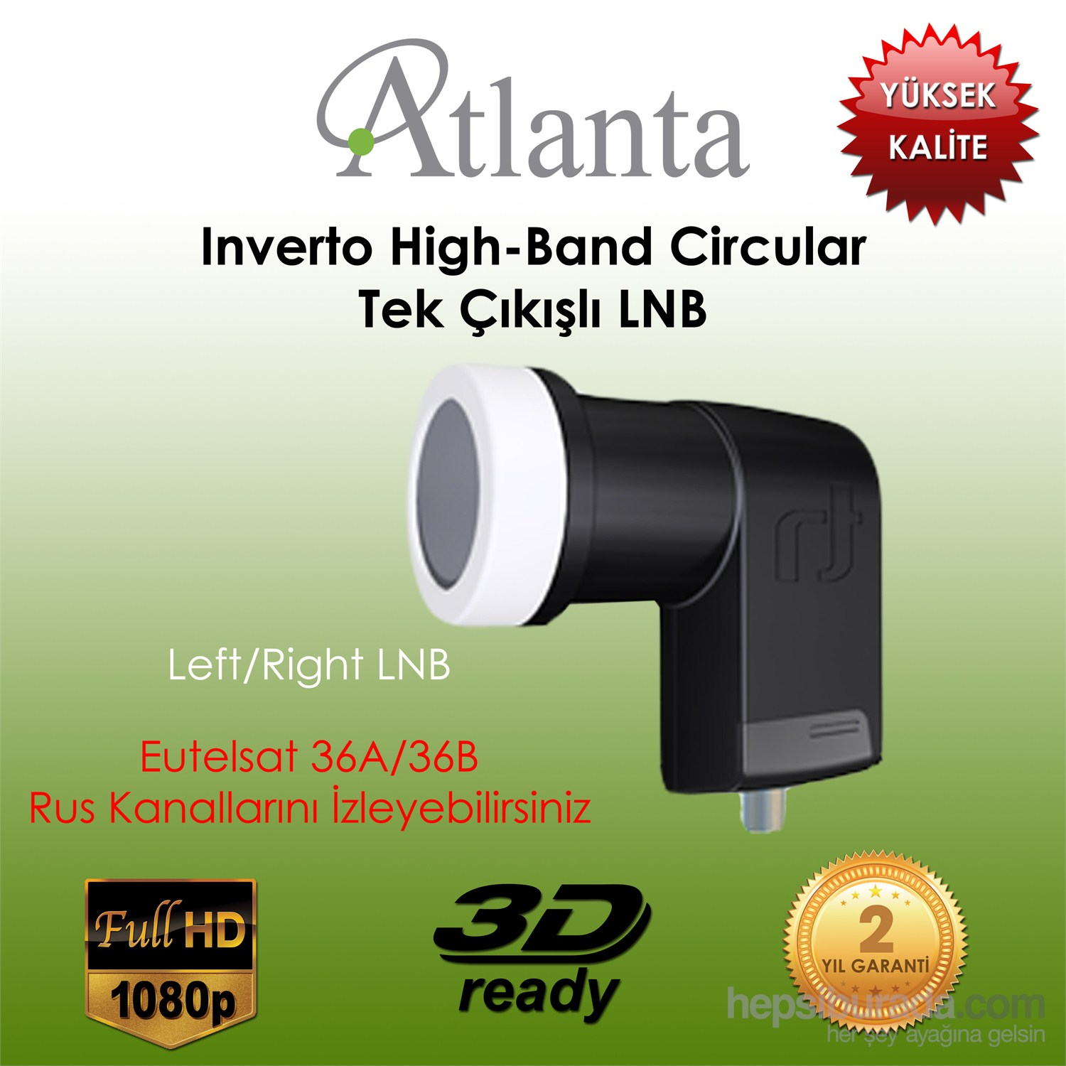 Atlanta Inverto High-Band Circular Single Lnb (Tek çıkışlı)