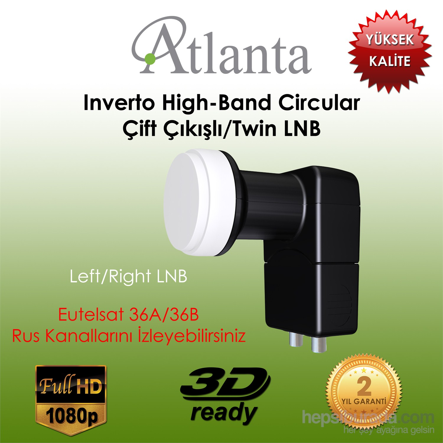 Atlanta Inverto High-Band Circular Twin Lnb (Çift çıkışlı)