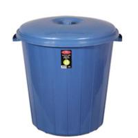 Arslan Plastik Çöp Kovası Kapaklı Plastik 90 Lt Mavi