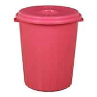 Stor Çöp Kovası Plastik Kapaklı Renkli 50 Lt