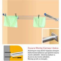 Pakas Balkon Çamaşır Kurutma Askısı - Pks 03 Duvara Monte
