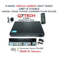 Q7 Tech 8 Kanal Dvr Kamera Kayıt Cihazı Analog (Sabit IP İstemez)