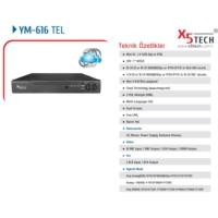 X5 Tech Ym-616Tel 16 Kanal Full D1 960H Hdmı