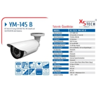 X5 Tech Ym-145B 1-3 6Mm Sony 650 Tvl 145 Led Kamer