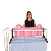 Kayıkcı Çift Taraflı Balkon Çamaşır Kurutma Askısı 90Cm. Genişlik