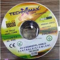 Technomax Rg6 Uydu Anten Kablosu 25 Mt