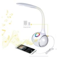 Rgb Bluetooth Hoparlör Renkli Işıklı Esnek Gece Lambası Masa Lambası Beyaz