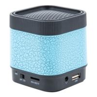 A7 Fm Radyolu Işıklı Bluetooth Mini Hoparlör Ses Bombası Speaker Mavi