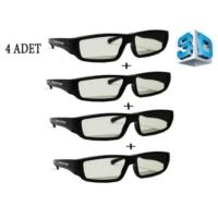 Multifon 3 Boyutlu Gözlük 3D Gözlük (4 Adet)