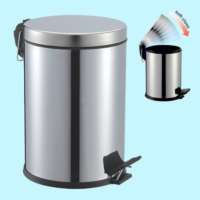 Hiper Pedallı Çöp Kovası Yavaş Kapanan - 12 Lt