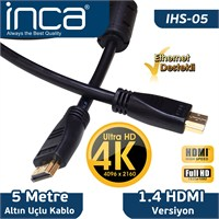 INCA IHS-05E ALTIN UÇLU 4K ULTRA HD 3D HDMI SPEED CABLE. 5 METRE