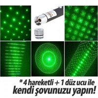 Uygun Yeşil Lazer Pointer 500 Mw 50 Km Etkili 5 Başlıklı