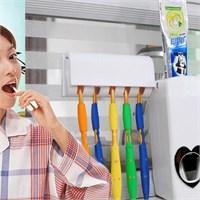 Bluezen Otomatik Diş Macunu Sıkacağı Ve 5 Adet Diş Fırçalığı