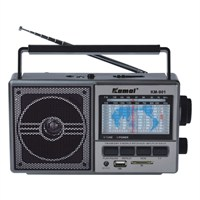 Kamal Km-901 Usb+Sd Mp3 Çalar Şarjlı Radyo