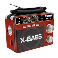 Kamal Km-130 Usb+Sd Mp3 Çalar Şarjlı Fenerli Radyo